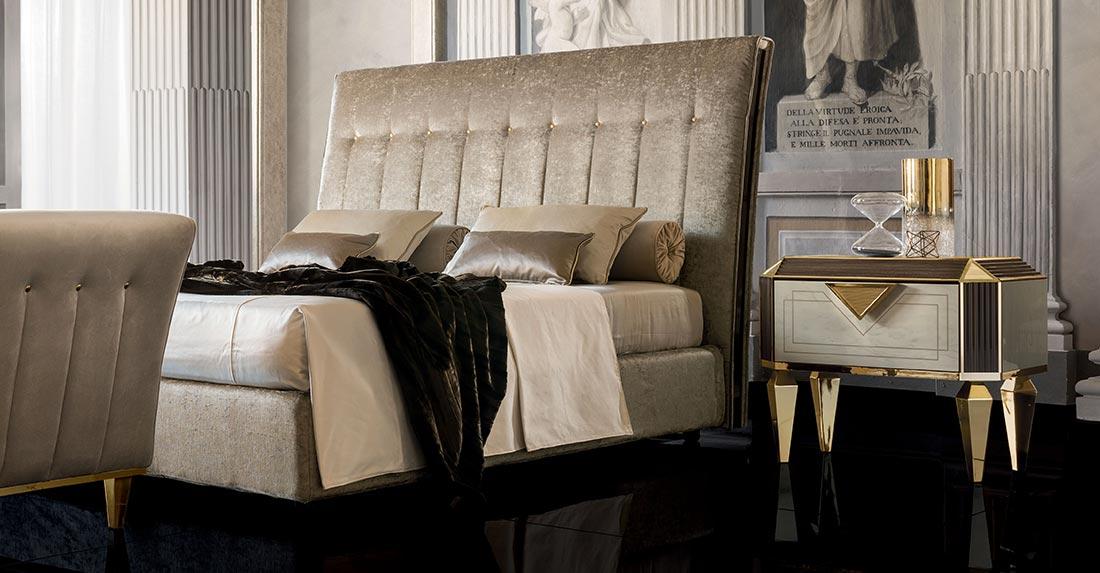 Arredo Classic DIAMANTE Кровать 160/190 с мягким изголовьем и коробом для белья