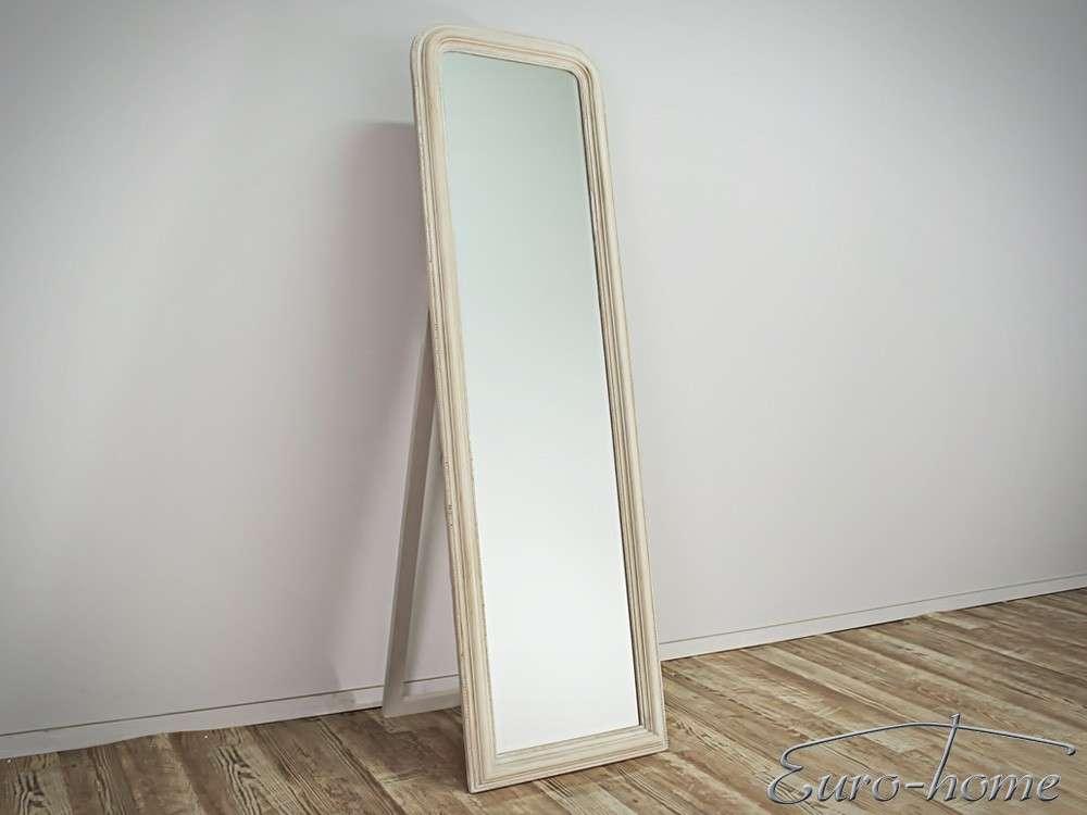 EUROHOME напольное зеркало закругленная бежевая рама