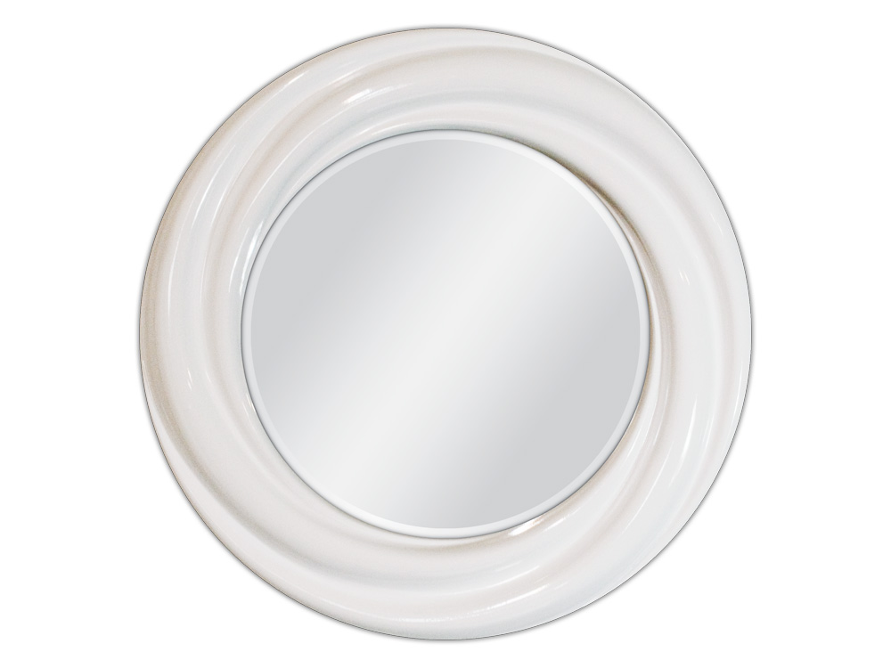 EUROHOME Белое круглое зеркало ? 68
