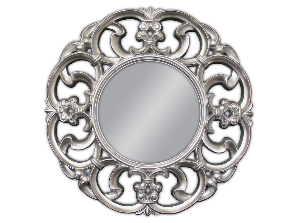 EUROHOME Декоративное круглое серебряное зеркало ? 100