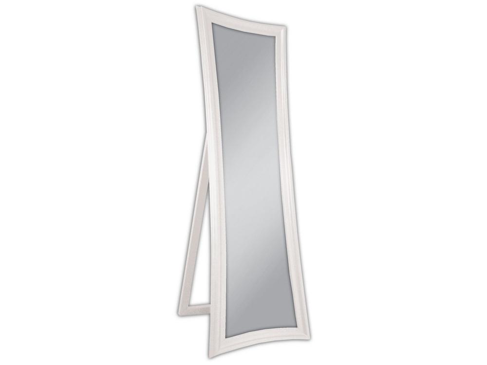 EUROHOME Зеркало стоящее в деревянной раме белое