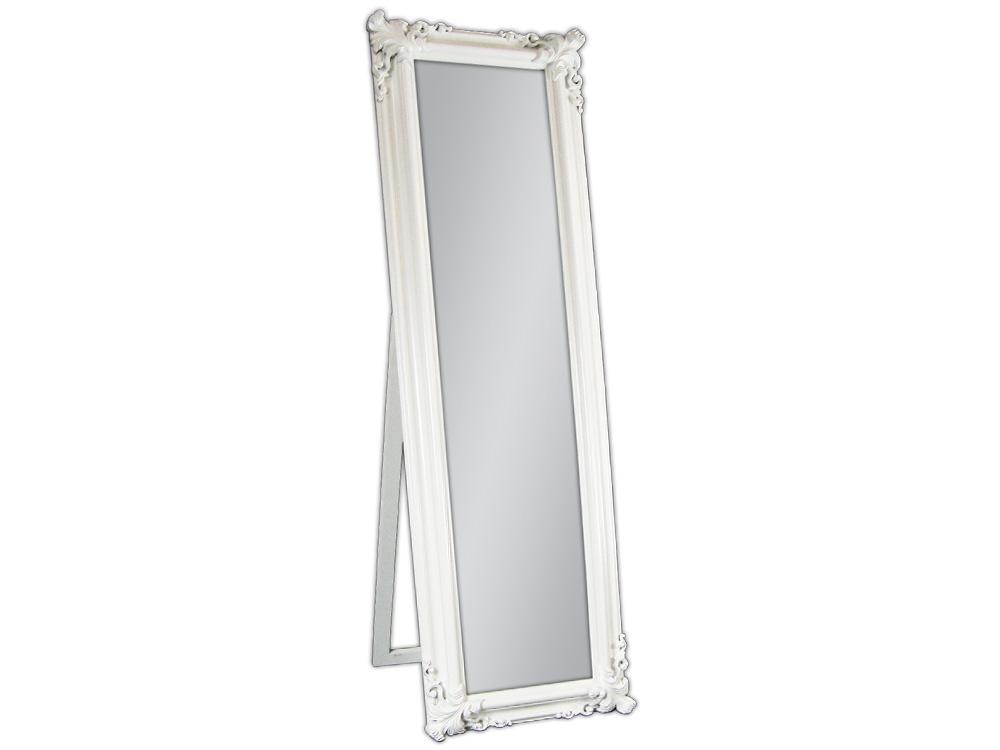 EUROHOME Зеркало в деревянной раме с декором белое