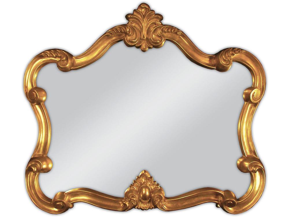 EUROHOME Декоративное зеркало в золотой оправе 70х80