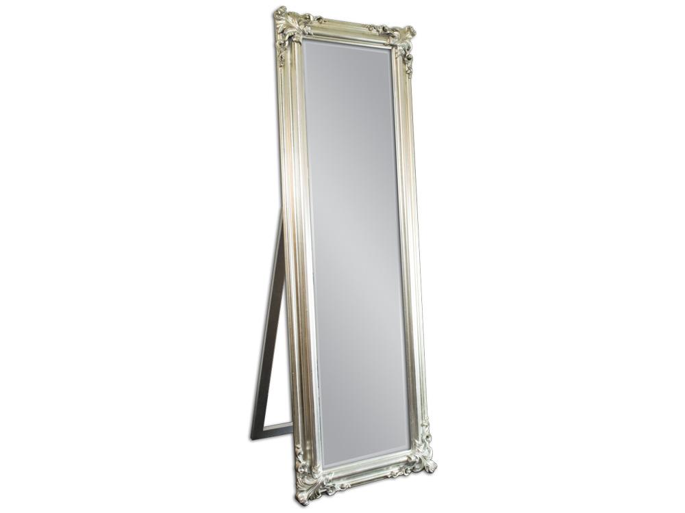 EUROHOME Зеркало в деревянной раме с декором серебро
