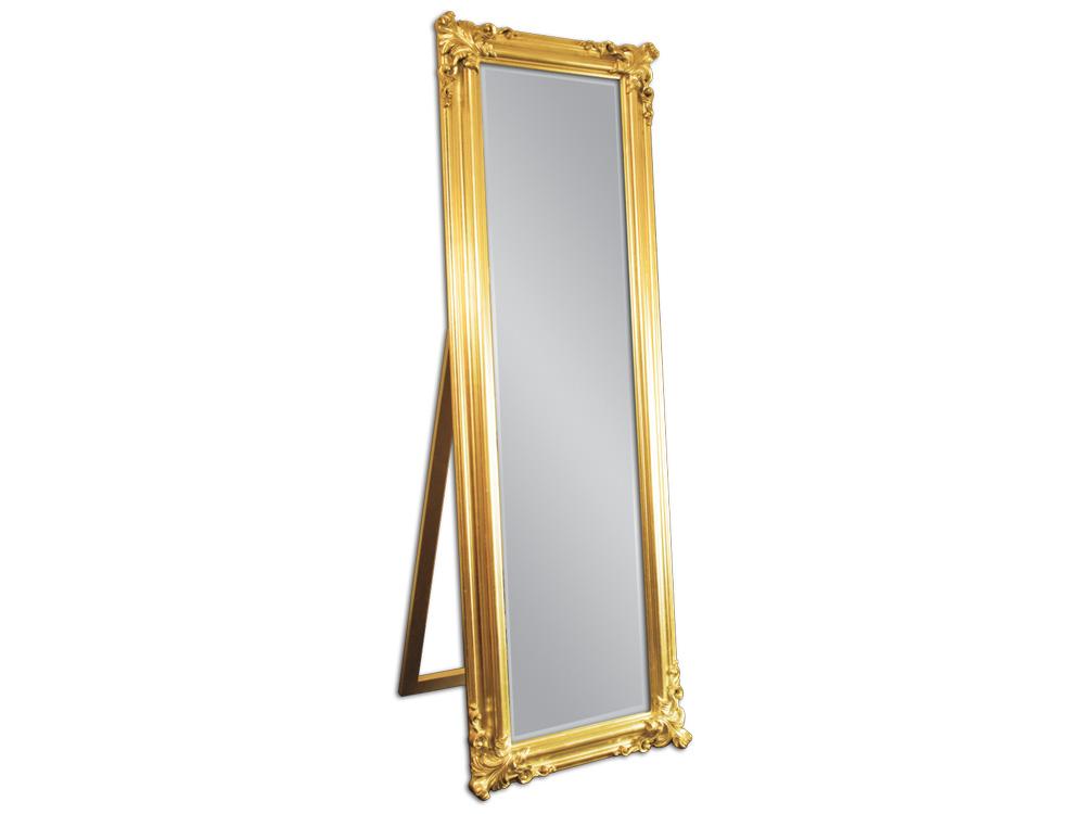 EUROHOME Зеркало в деревянной раме с декором золото