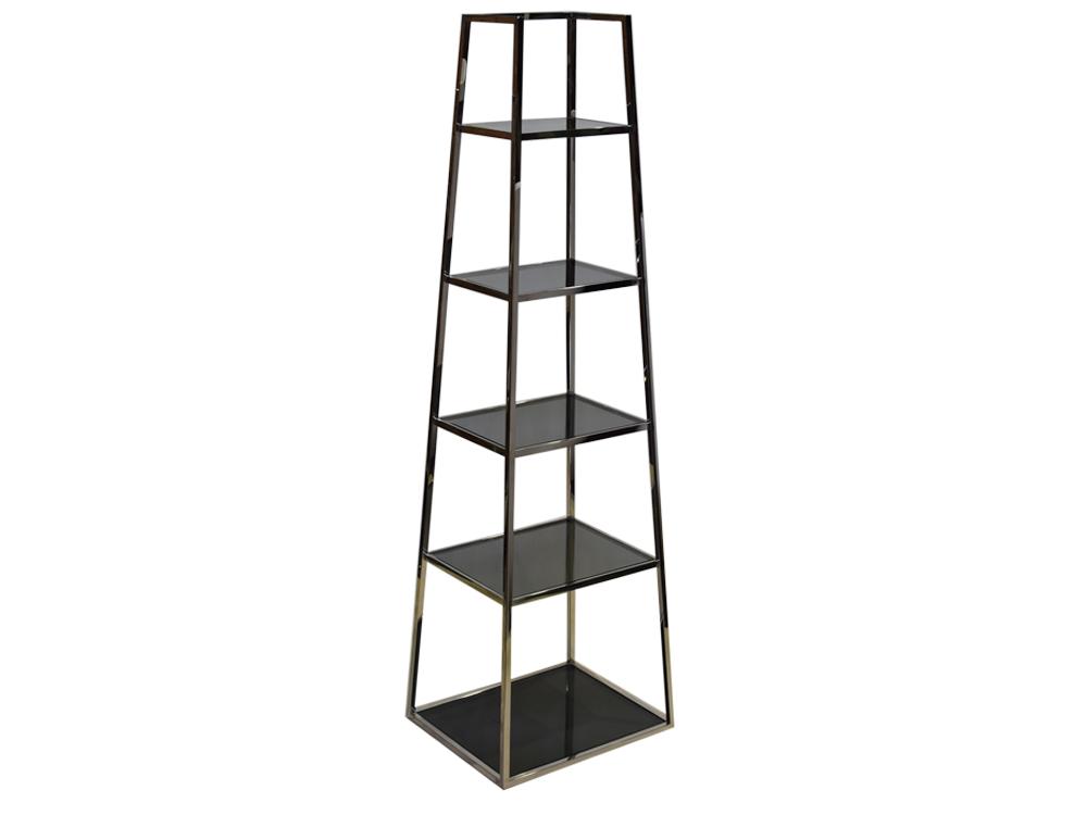 Eurohome Стальной черный книжный шкаф GG-1069
