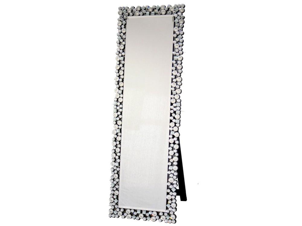 EUROHOME Зеркало напольное в обрамлении кристаллов