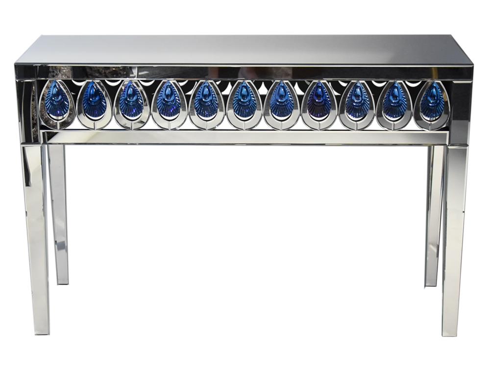 Eurohome Ажурная зеркальная консоль «Павлиний глаз» JS220