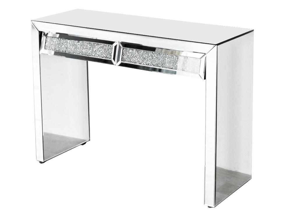 Eurohome Зеркальный туалетный столик в стиле гламур с кристаллами 17JS003