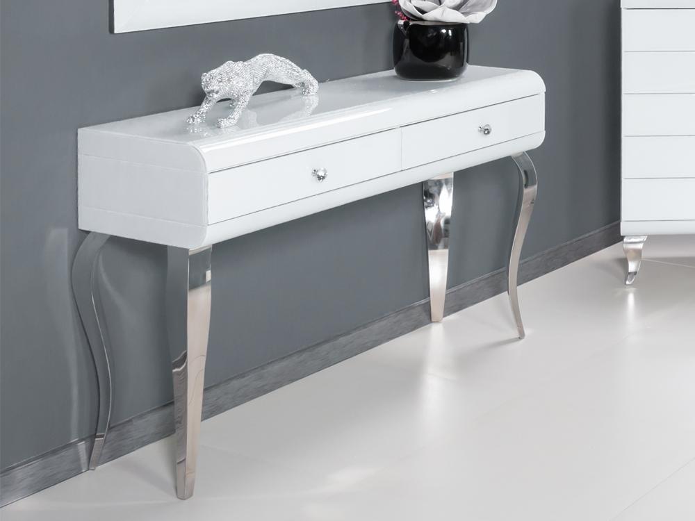 Eurohome Туалетный столик гламурное белое стекло JSF478