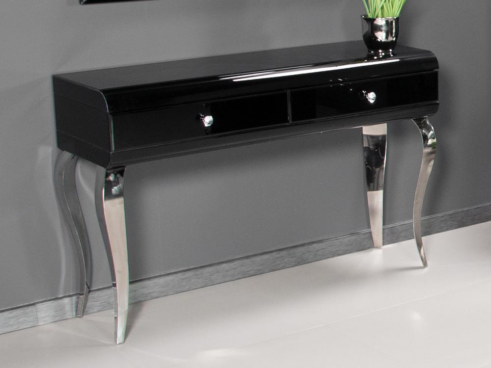 Eurohome Туалетный столик  черный стеклянный JSF478