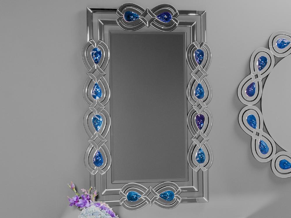 EUROHOME Зеркало в раме «восточные узоры» с  разноцветными кристаллами