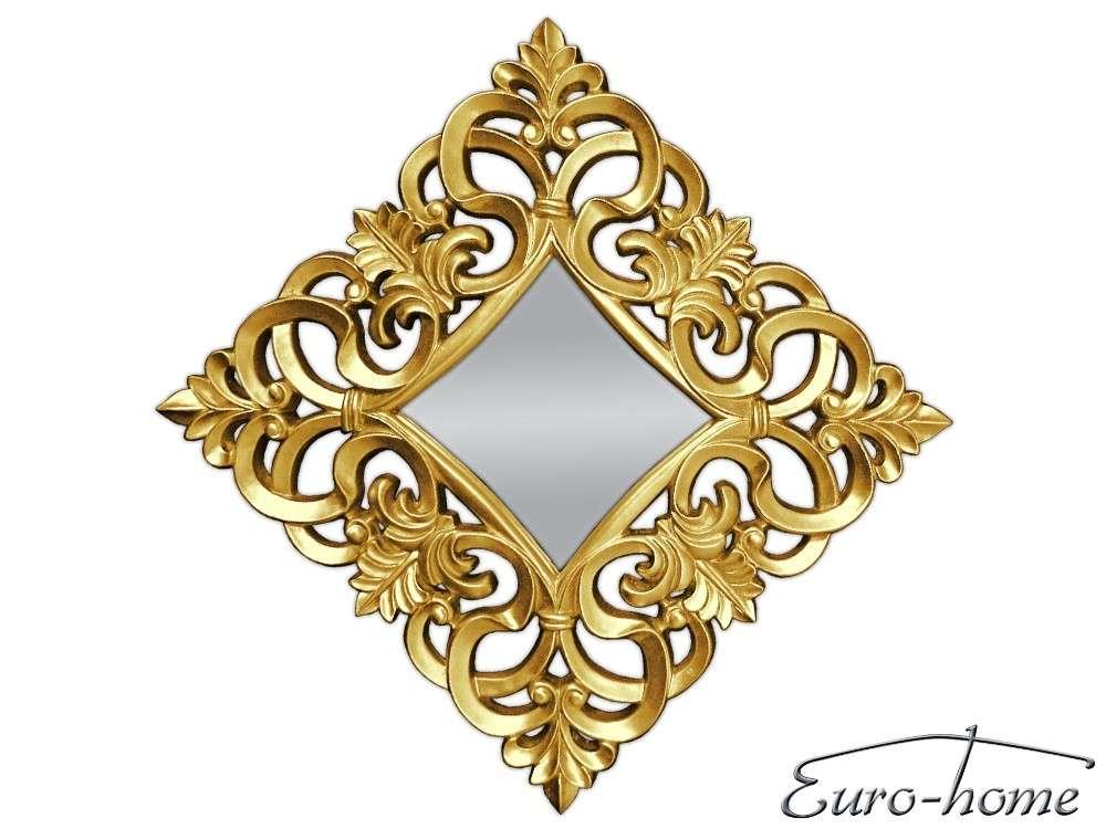 EUROHOME Декоративное зеркало в золотой раме 76×76