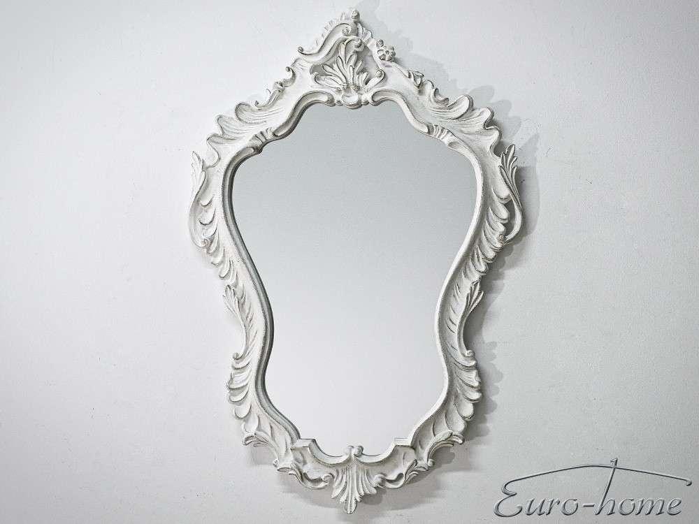EUROHOME зеркало в декоративной раме белой