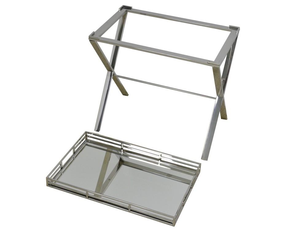 Eurohome Поднос LW-3193 55x57x37см серебро