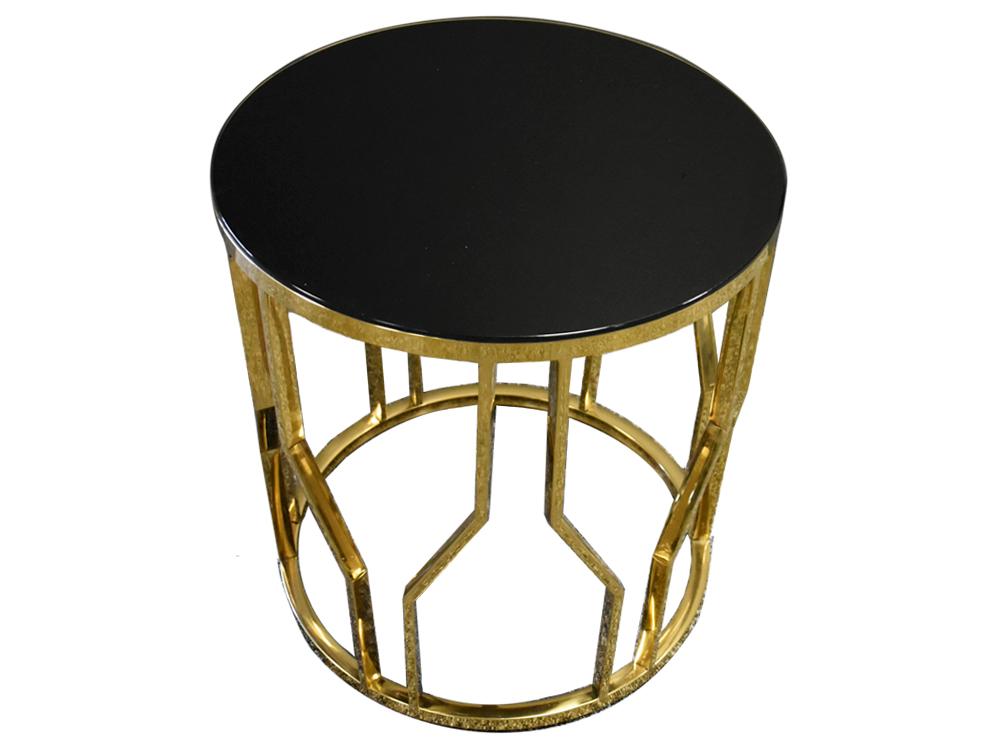 Eurohome Дизайнерский золотой стол 50 х 53 см D10
