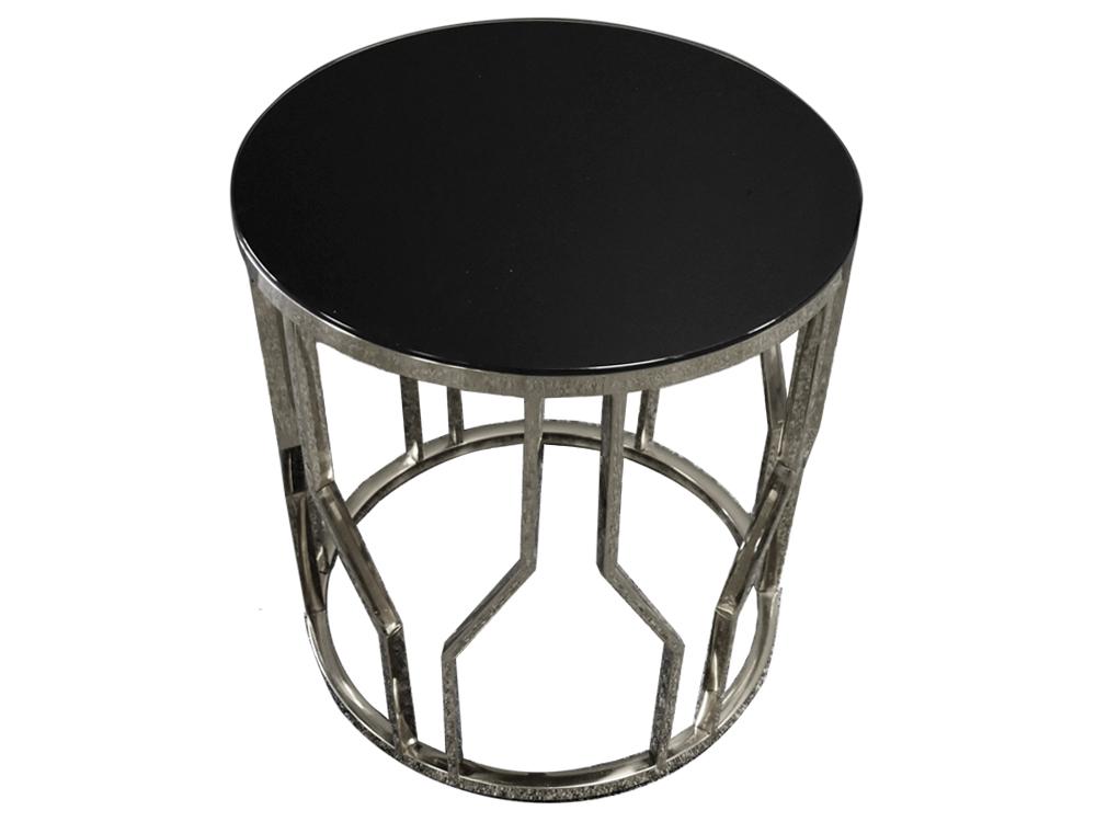 Eurohome Дизайнерский стол серебряный 50 х 53 см D10