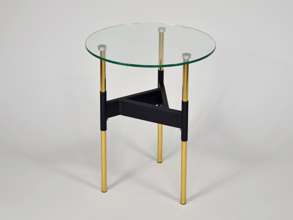 Eurohome Журнальный столик с геометрическим основанием ? 58 см CJ893
