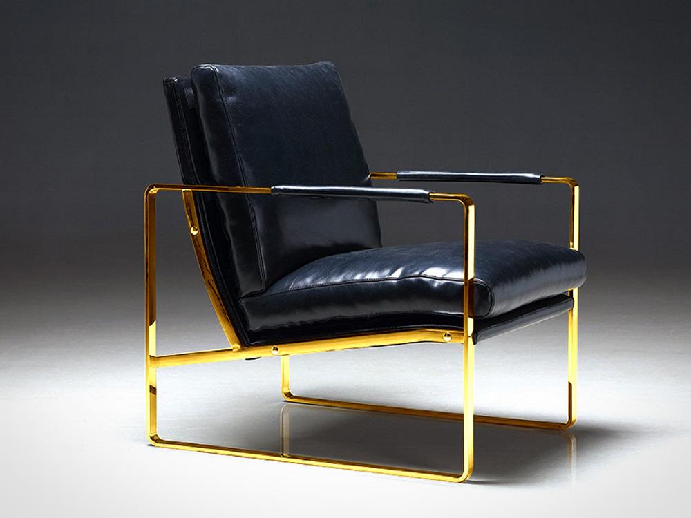 Eurohome Кожаное кресло 60х45х41 Y-1010