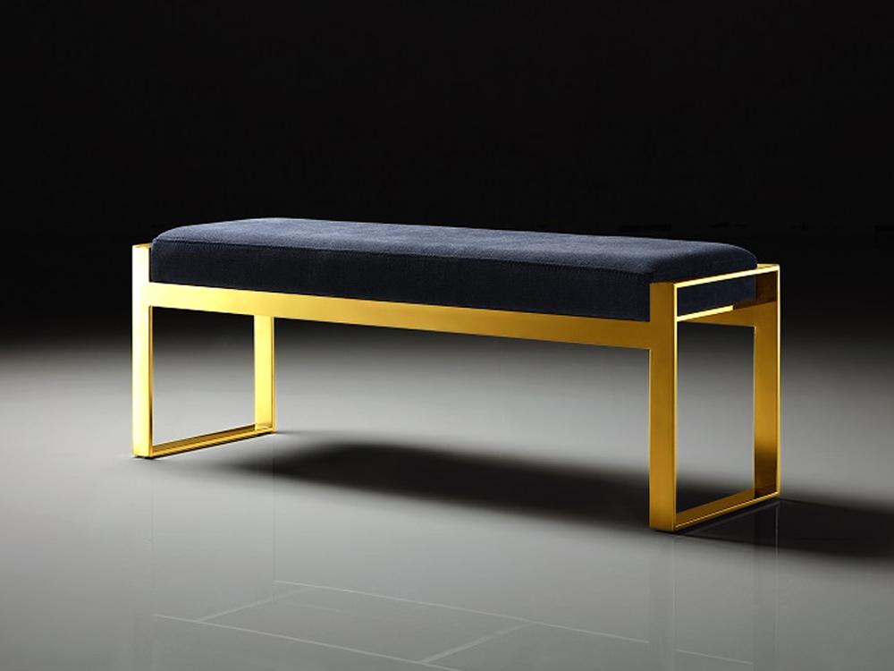 Eurohome Стильная скамейка с черным сидением 130 х 41 х 48 см Y1027