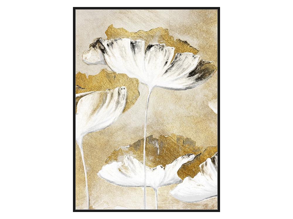 Eurohome Золотая картина с белым цветком 82 х 122 см TOIF23256