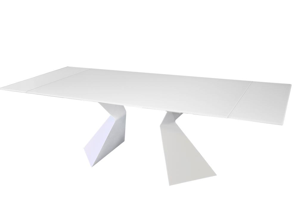 Eurohome Белый современный раскладной стол 180-250 х 100 х 75 см CT992