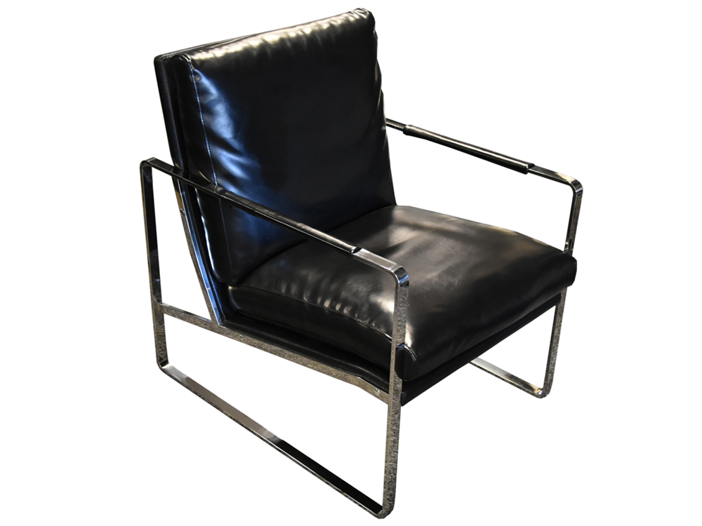 Eurohome Элегантное черное кресло 60x45x41 см Y-1010