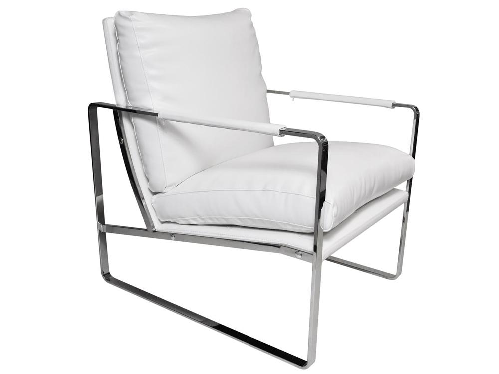 Eurohome Элегантное белое кресло 60x45x41 см Y-1010