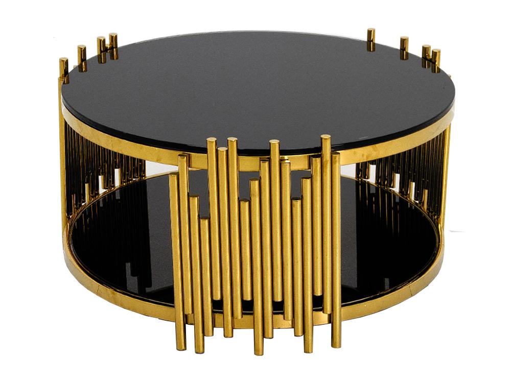 Eurohome Дизайнерский журнальный столик с черным верхом C416