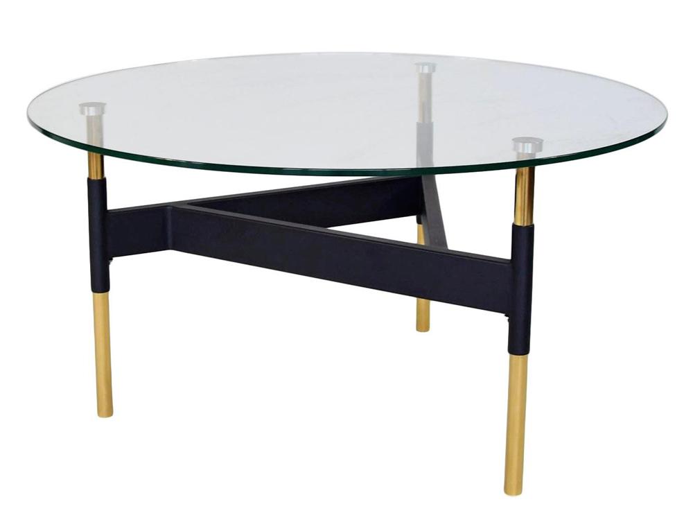 Eurohome Журнальный столик с геометрическим основанием ? 80 см CJ892