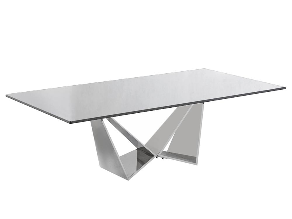 Eurohome Дизайнерский журнальный столик из стали с блестящей основой CT2061C