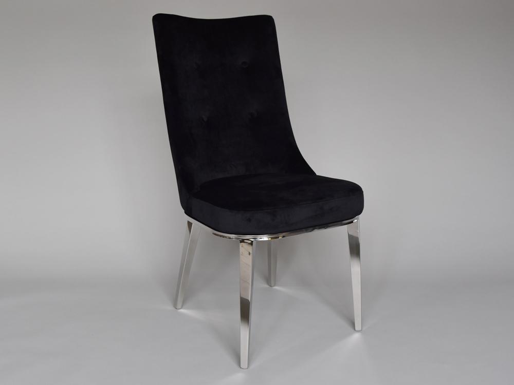 Eurohome Чёрный велюровый клубный стул CY6163
