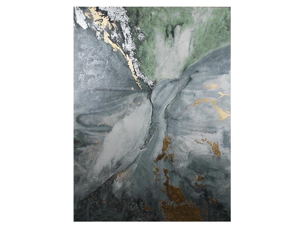 Eurohome Абстрактная картина, посыпанная золотом и серебром 150×225 см JCN0139