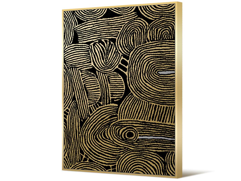 Eurohome Золотисто-чёрный абстрактный рисунок TOIR22762
