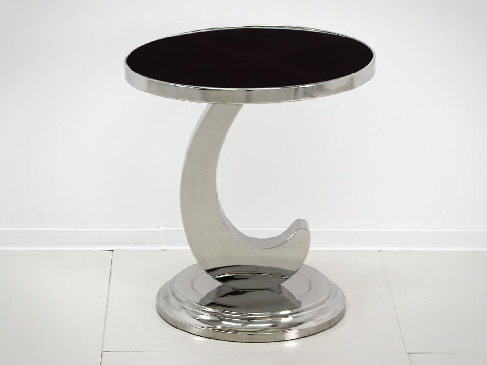 Eurohome Журнальный столик с черным верхом D002 50 х 50 х 54 см