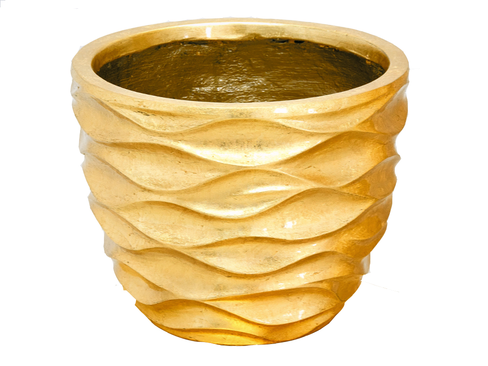 Eurohome Цветочный горшок 2027/2 33x33x26cm GOLD