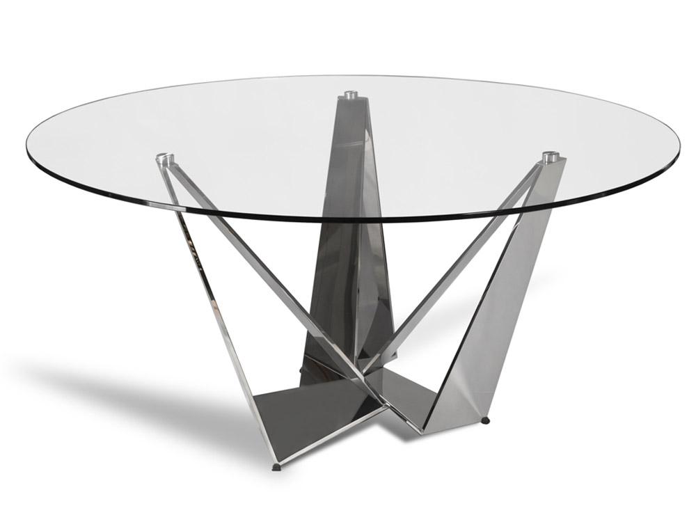 Eurohome Дизайнерский круглый стол с глянцевой основой ?150 см CT2061R