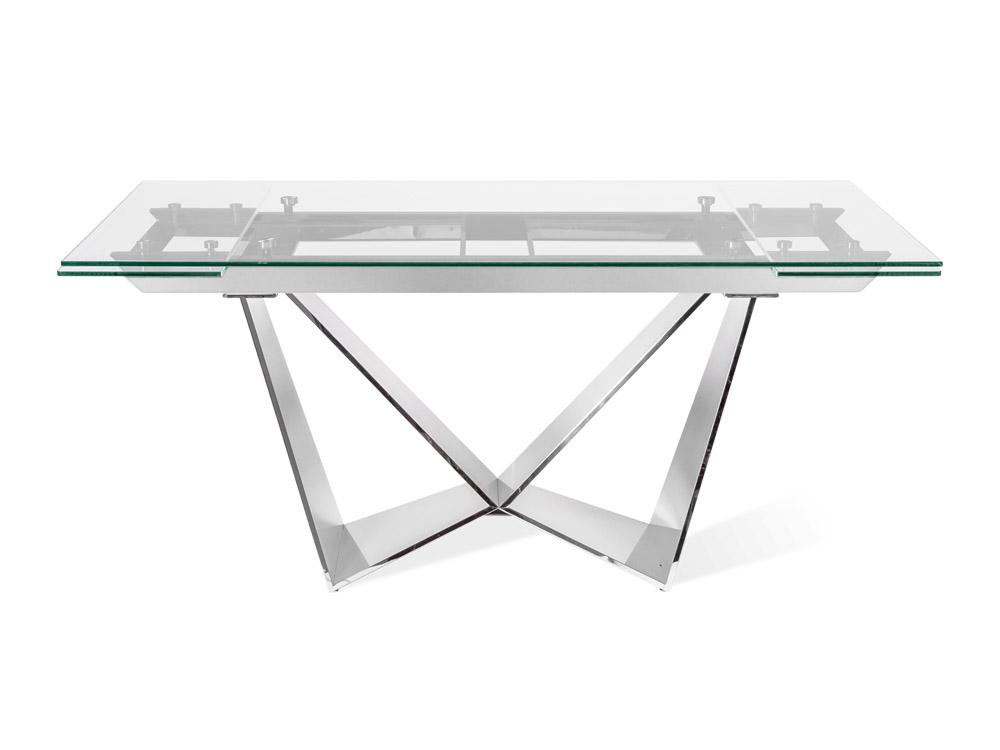 Eurohome Раскладной стол со стеклянной столешницей CT2302