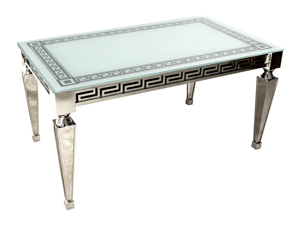Eurohome Роскошный стол с греческим рельефным орнаментом 150 х 90 х 76 см TH375