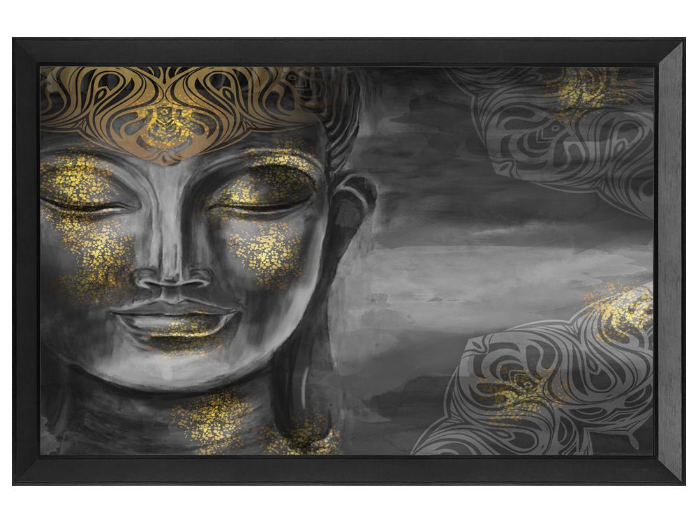 Eurohome Восточное золотое изображение Будды 80 x 60 см S23649