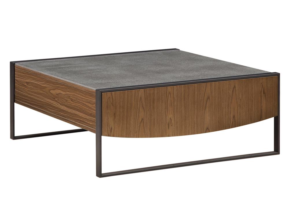 Eurohome Деревянный журнальный столик с ящиком для цемента, 100 х 40 см TA841