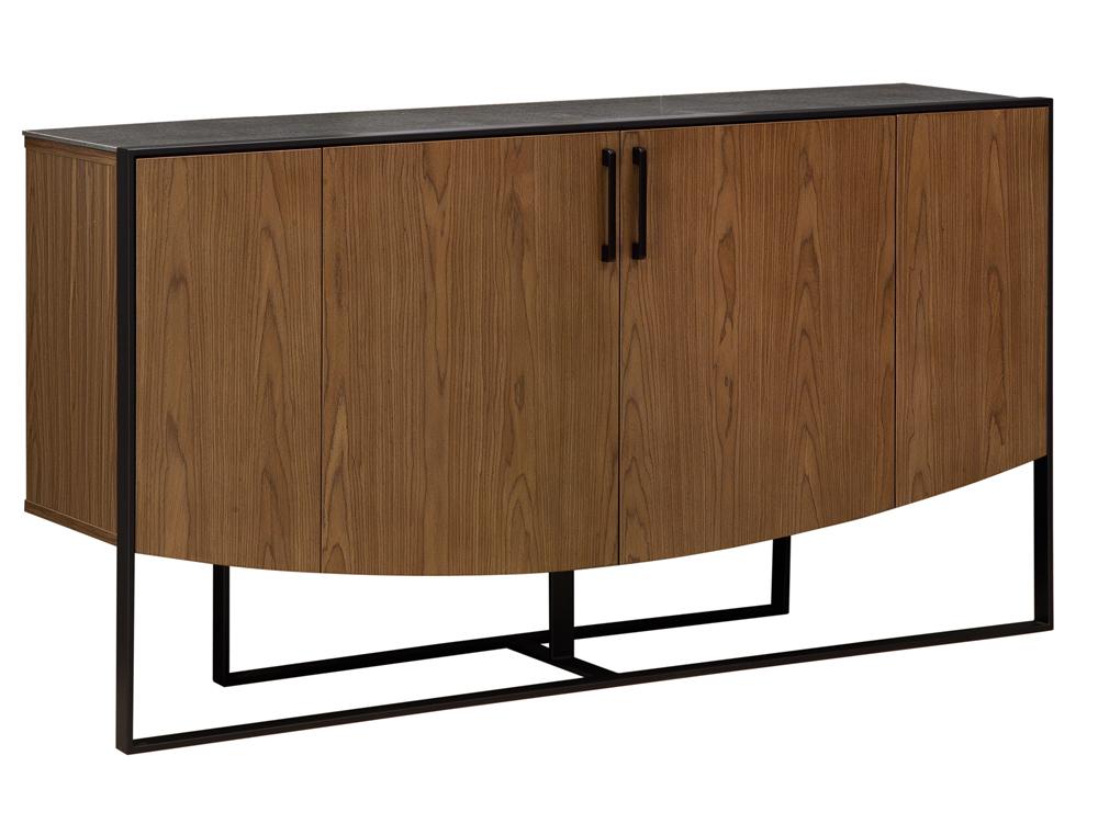 Eurohome Деревянный шкаф с цементной столешницей H841
