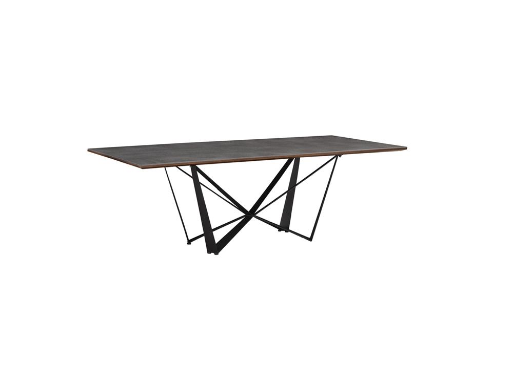 Eurohome Журнальный столик с цементной столешницей 120 х 60 х 45 см TA128L
