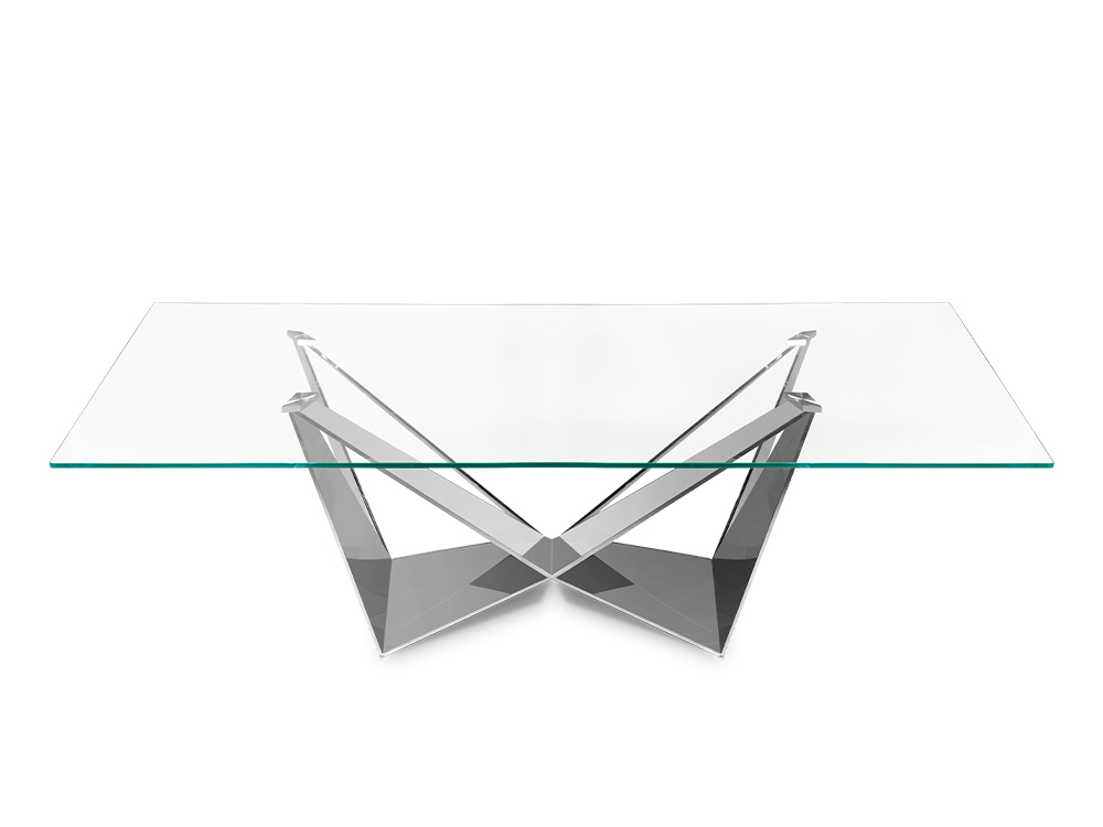 Eurohome Дизайнерский стол с блестящей основой 200 х 100 х 75 см CT2061