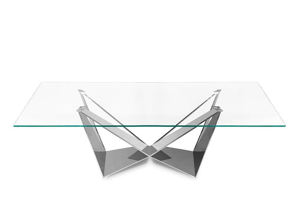 Eurohome Дизайнерский стол с блестящей основой 240 х 120 х 75 см CT2061