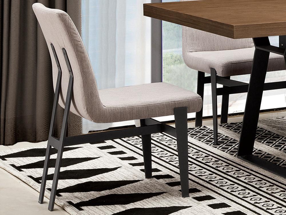 Eurohome Современный стул светло-серая ткань 46 х 64 х 86 см N-6273