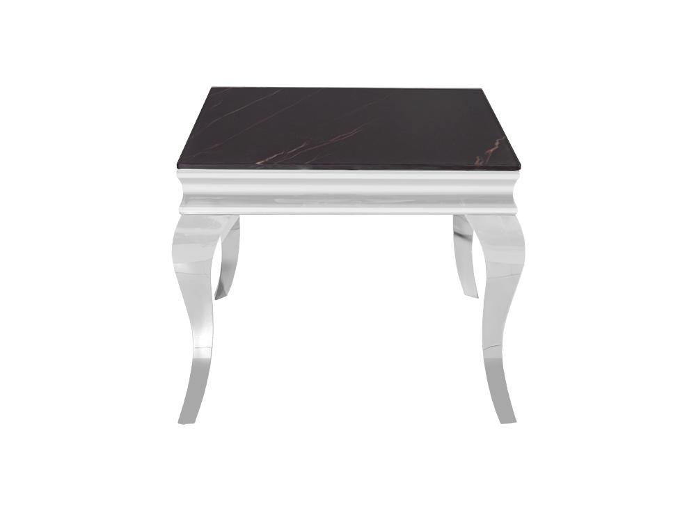 Eurohome Журнальный стол с черным мраморным верхом современный барок 60 х 60 х 57 см CT / D306