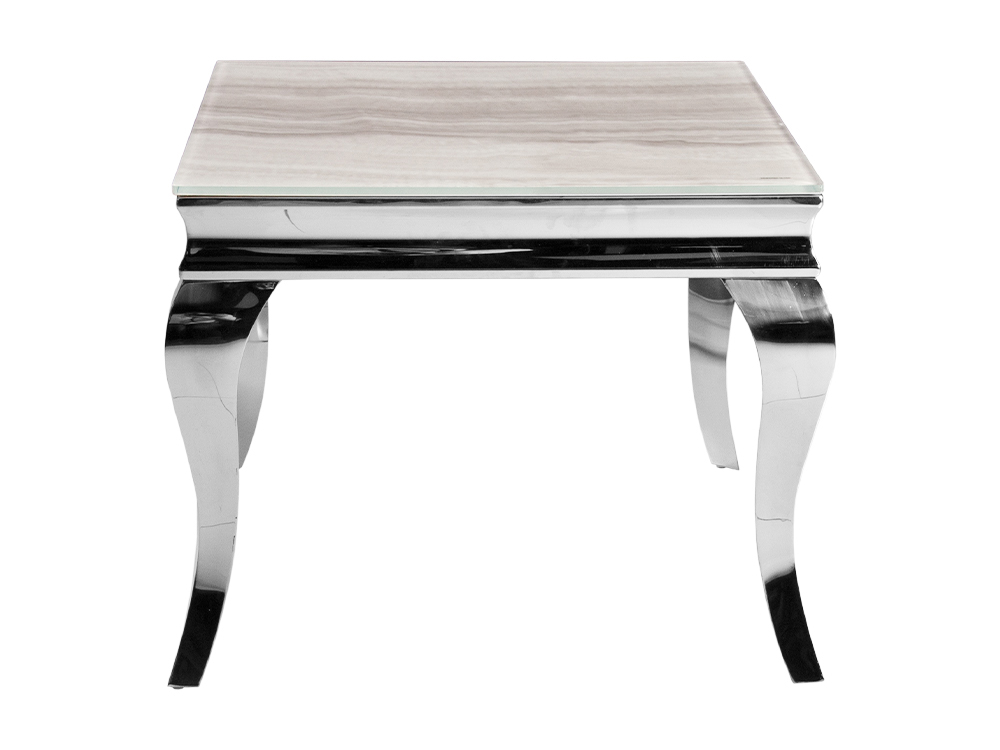 Eurohome Журнальный столик с белым мраморным верхом современный барок 60 х 60 х 57 см CT / D306