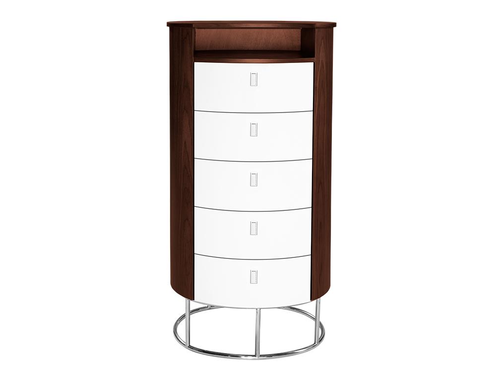 Eurohome Современный элегантный округлый шкаф D-826
