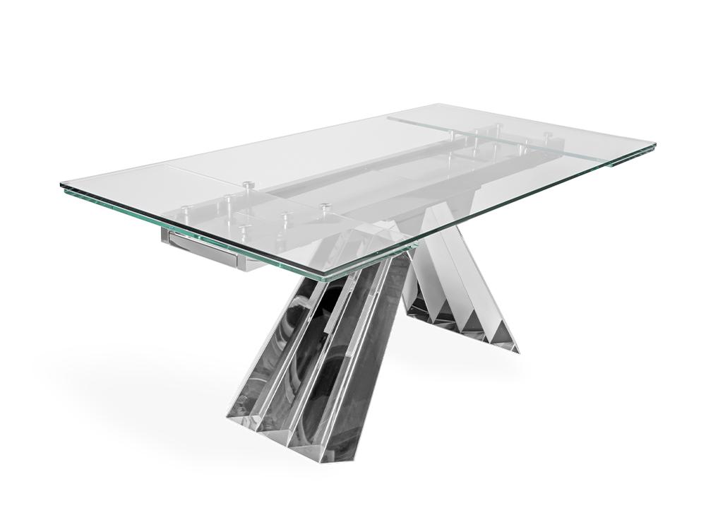 Eurohome Складной стол со стеклянной столешницей 180 / 250x90x75 см CT2307